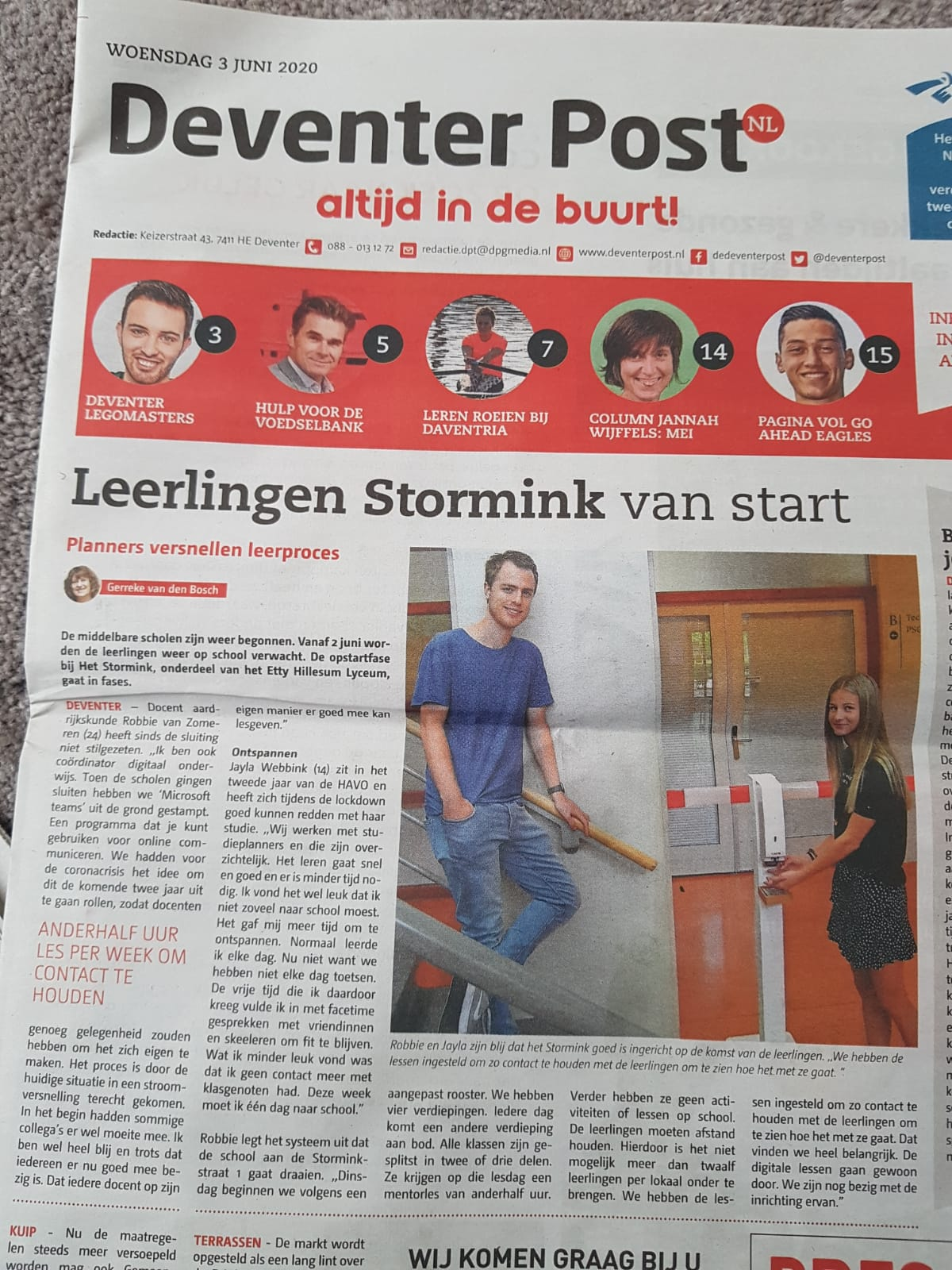Leerlingen Stormink van start Deventer post